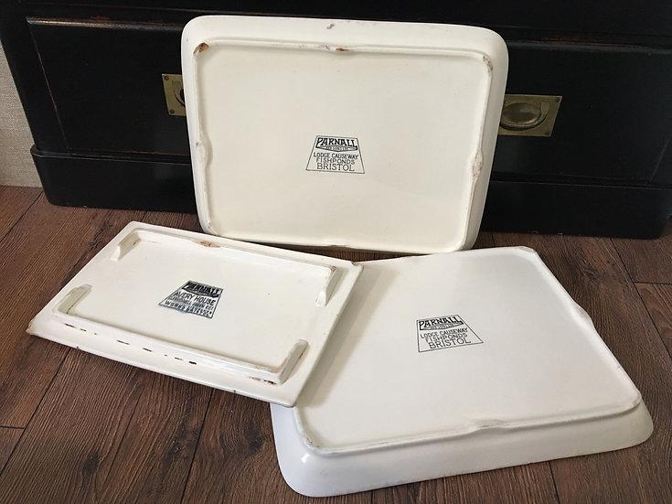 1x White ironstone Parnall butcher's platter