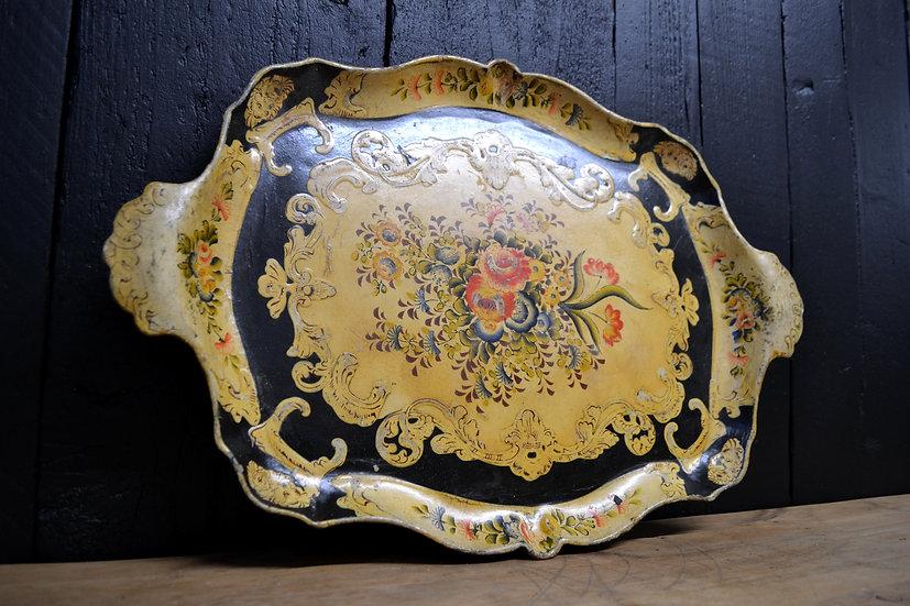 Victorian Papier-Mache floral tray