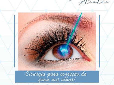 Cirurgia para correção de grau nos olhos