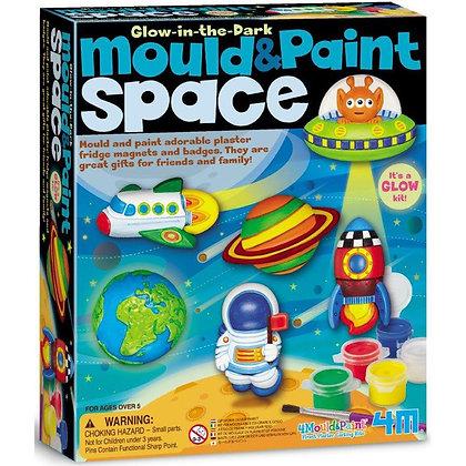 glow in the dark mould & paint space | יצירת מגנטים חלל זוהרים בחושך