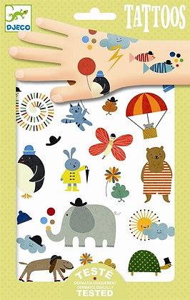 Animals tattoos -Elephant   קעקועים חיות - פיל
