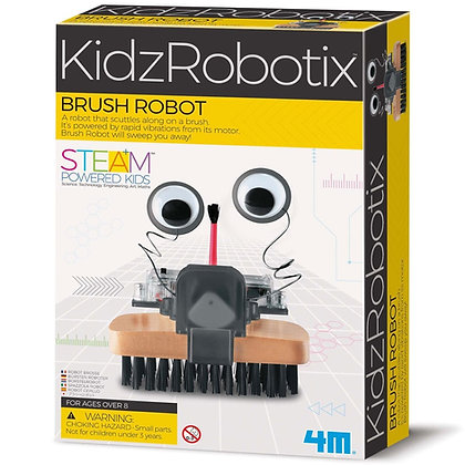 KidzRobotix BRUSH ROBOT ערכה להרכבת מברשת רובוטית