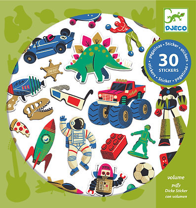 Retro Stickers - מדבקות פאפי צעצועי רטרו