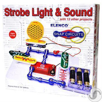 Snap Circuits Strobe Light & Sound סנאפ סירקיטס סטרוב אור וקול