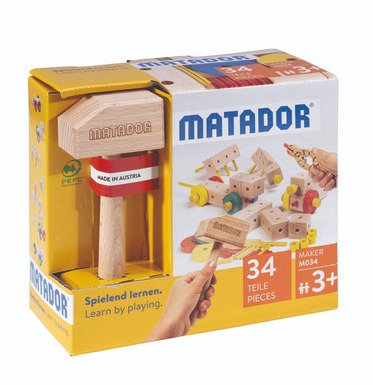 MATADOR M034 | ערכת הרכבה מעץ מטאדור-34 חלקים