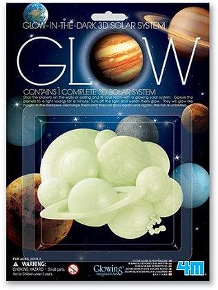 Glow in the dark Solar System   מדבקות זוהרות בחושך מערכת השמש