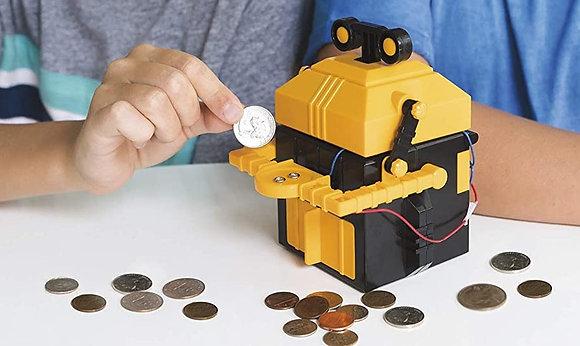 Kidzrobotix Money Bank Robot ערכה להרכבה רובוט קופה