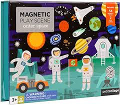 MAGNETIC PLAY SCENE OUTER SPACE משחק מגנטים חלל החיצון
