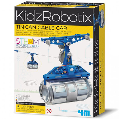KidzRobotix Tin Can Cable Car ערכת רכבל להרכבה