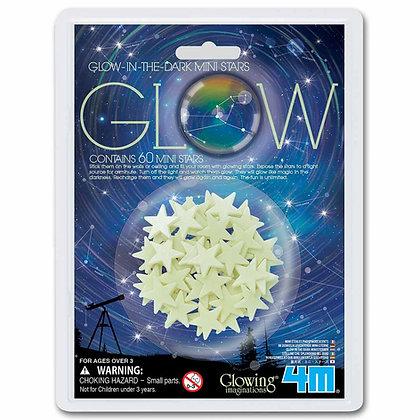 Glow in the dark Mini stars מדבקות זוהרות בחושך כוכבים