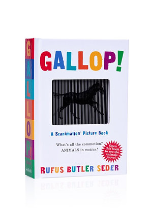 GALLOP! A Scanimation picture book | גלופ-ספר חיות אשליות אופטיות