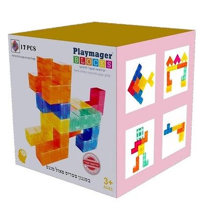Playmager tetris | פליימאגר טטריס 17 חלקים