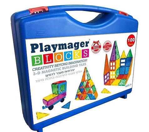 playmager 100 parts | ערכת פליימאגר 100 חלקים במזוודה