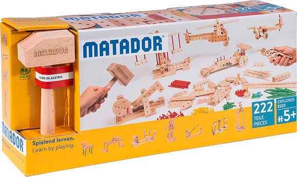 MATADOR E222 |ערכת הרכבה מעץ מטאדור-222 חלקים