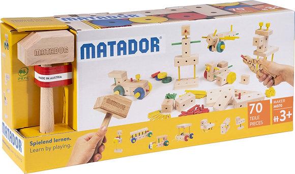 MATADOR M070   ערכת הרכבה מעץ מטאדור 70 חלקים