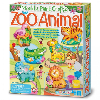 mould & paint zoo animals | יצירה בגבס גן חיות