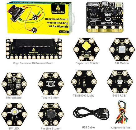 Micro:Bit Honeycomb Smart Wearable Coding Kit ערכת אלקטרוניקה לבישה מיקרו ביט