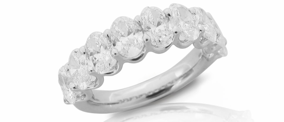 Half Oval Eternity Ring