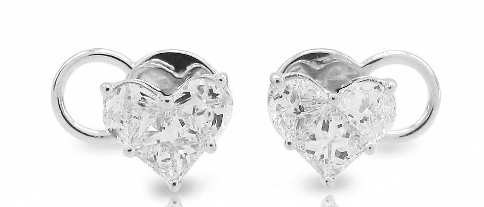 Heart Shape Illusion Stud Earrings