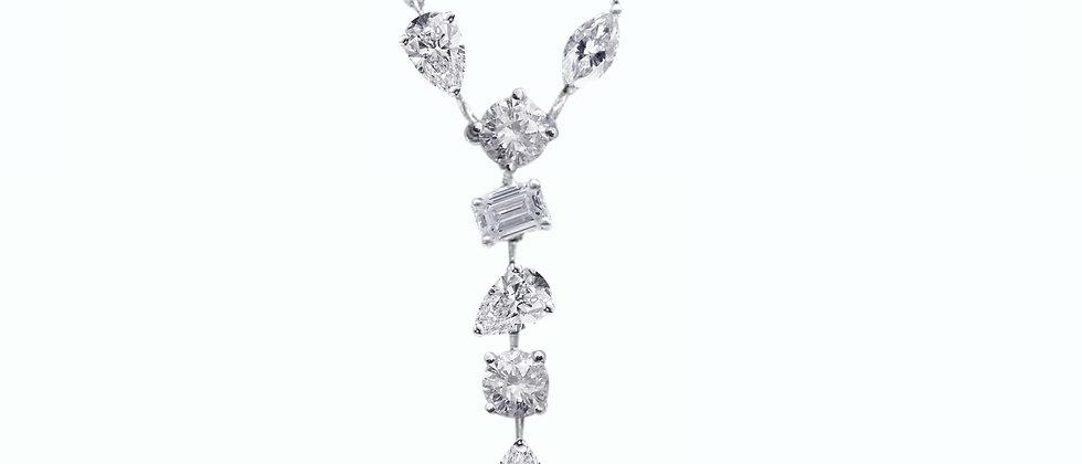Multi-Shape Diamond Pendant