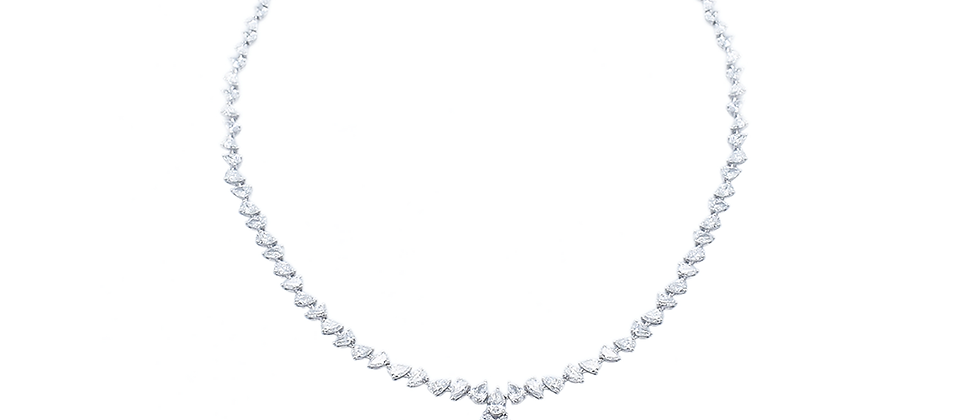 Pear Diamond Necklace With Details
