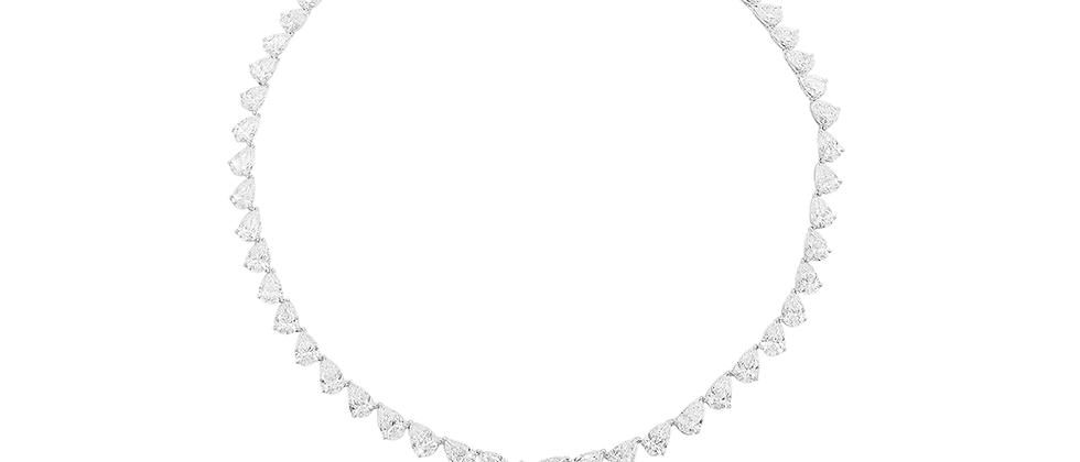 Pear Shape Drop Necklace