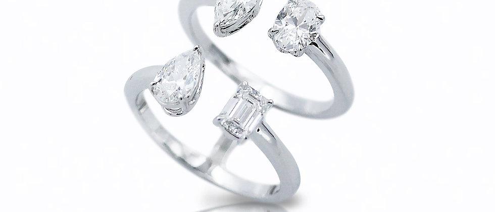 Toi Et Moi Multi-Shape Ring