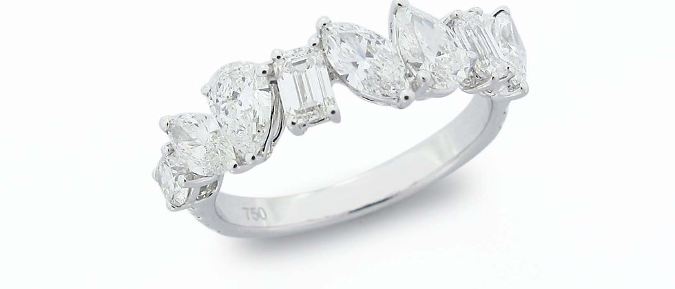Half Multi-Shape Eternity Ring