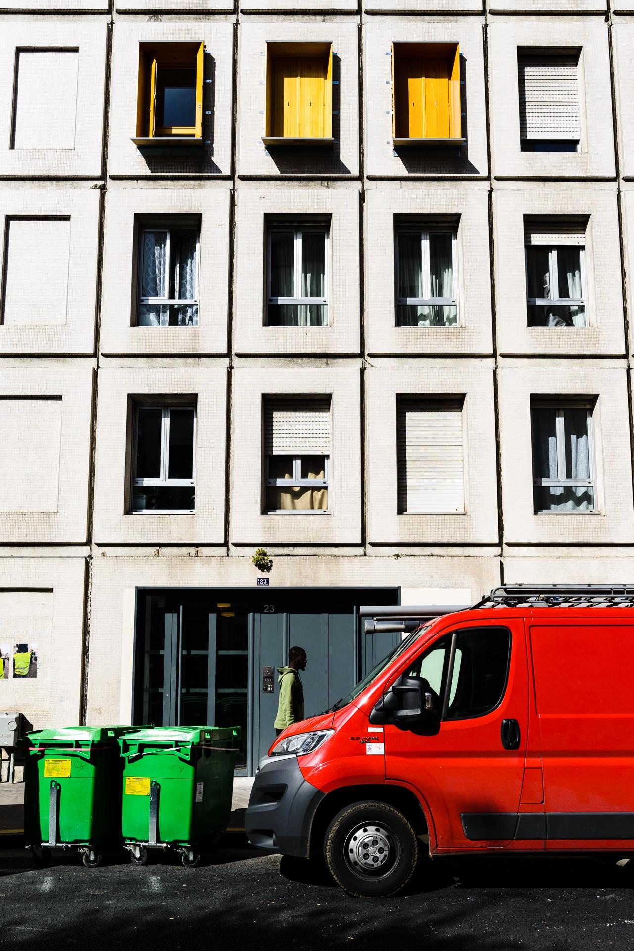 Sunny Street in Paris