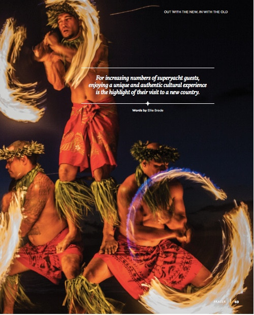 Authentic cultural experiences on superyachts: Fraser Magazine 2016