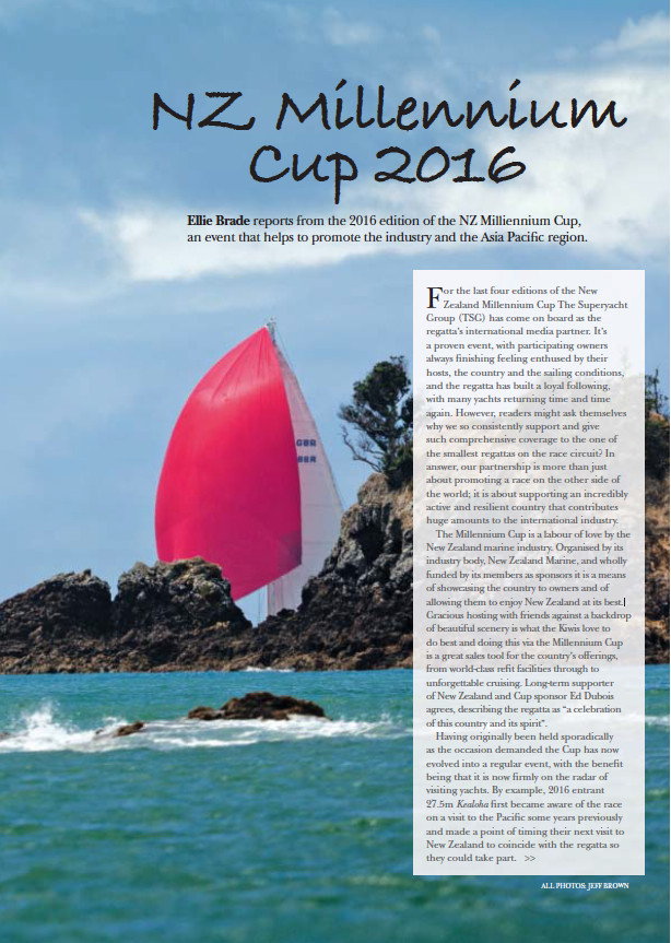 NZ Millennium Cup 2016: issue 168 The Superyacht Report