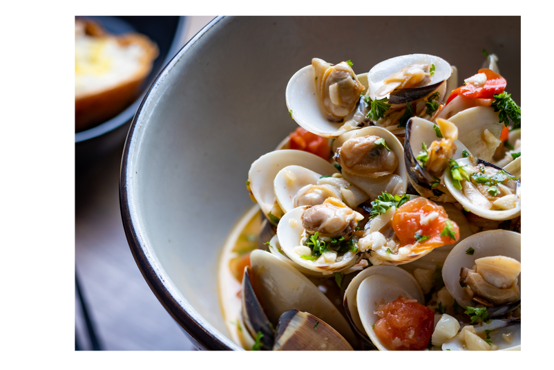 Steamed Live Clams