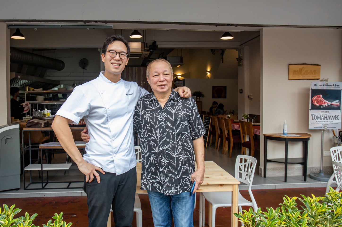 Chef Micah and his Father
