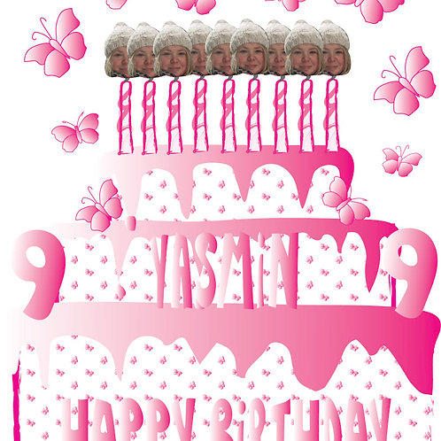 PERFECT PICS - BIRTHDAY CARD CAKE PINK