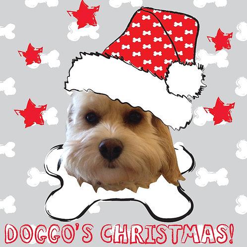 PERFECT PICS - PET CHRISTMAS CARD BONE GREY