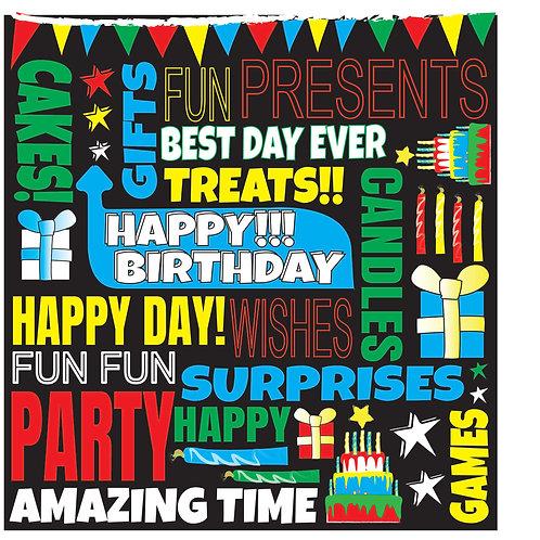 FUNKY FONT - BIRTHDAY CARD (M)