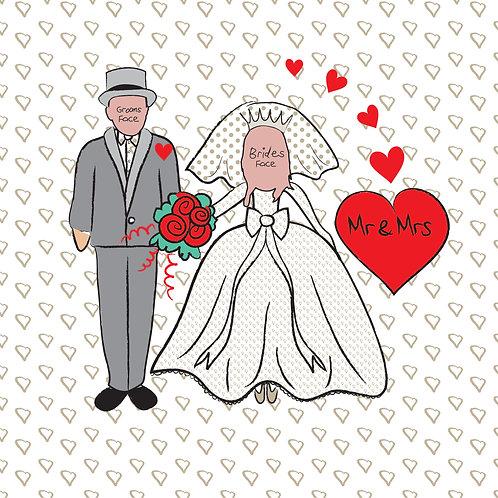 PERFECT PICS - WEDDING FRAME HEARTS FULL