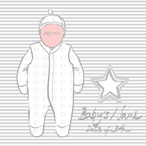PERFECT PICS - BABY FRAME STAR GREY