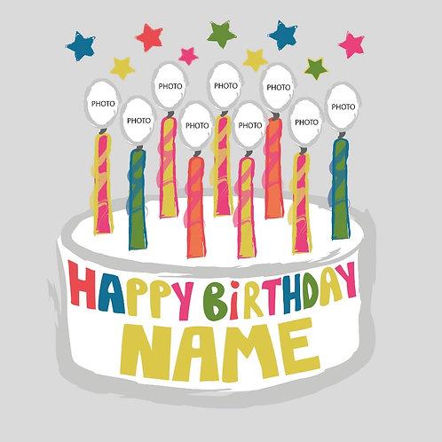 PERFECT PICS - BIRTHDAY CARD CAKE WHITE