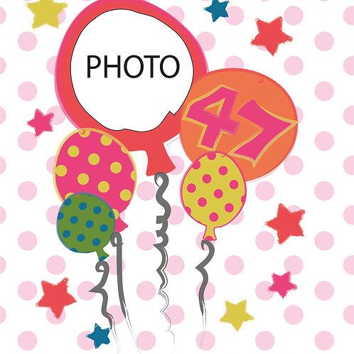 PERFECT PICS - BIRTHDAY CARD BALLOONS PINK