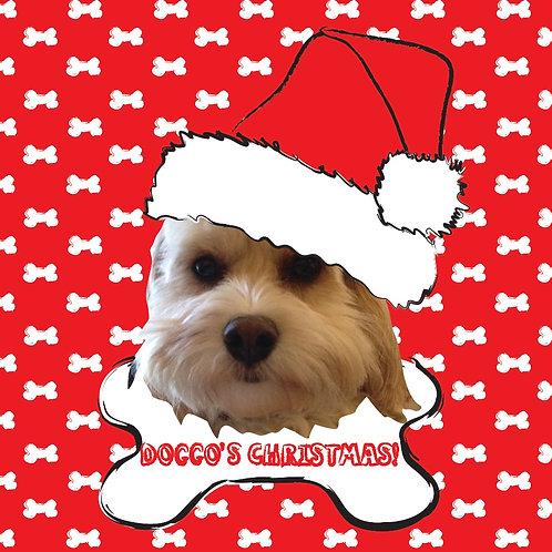 PERFECT PICS - PET CHRISTMAS CARD BONE RED