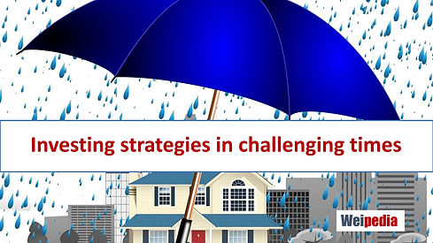 Investing strategies in challenging time
