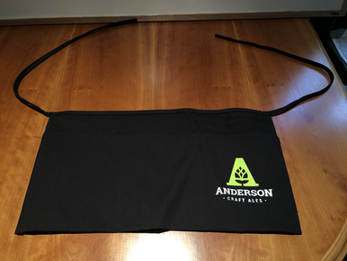 Black Server Apron w/ 2 colour silk screen