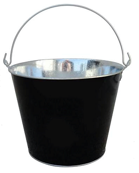 Bucket - blk - 5 qrt - galvanized tin.pn