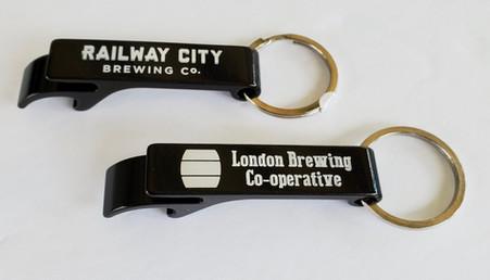 Flip Top Bottle & Can Opener Keychain