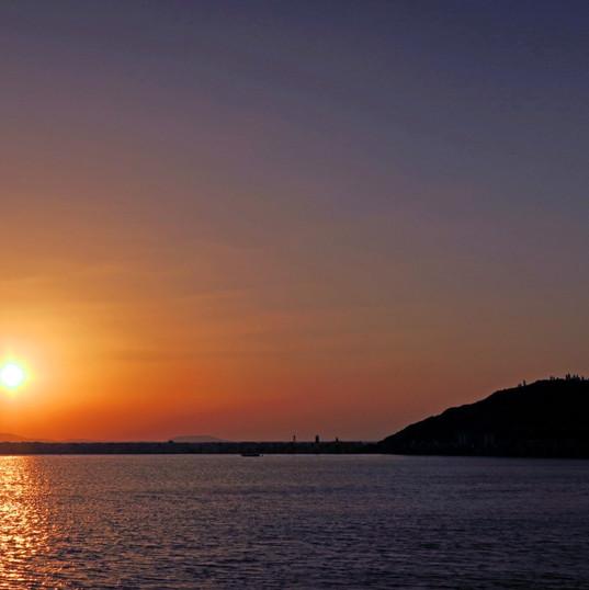 Sunset at the Portara