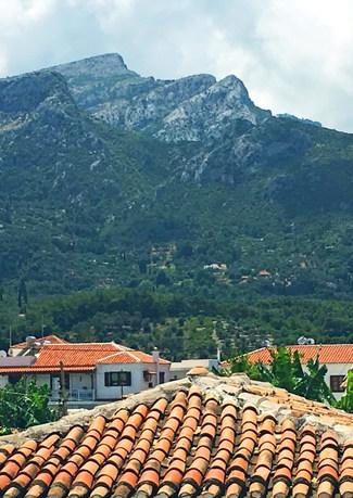 Samos mountains.