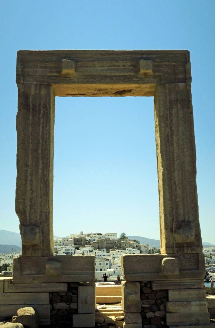 The mystical door of an ancient temple that was never comlpleted, the Portara is Naxos' most famous antiquity.