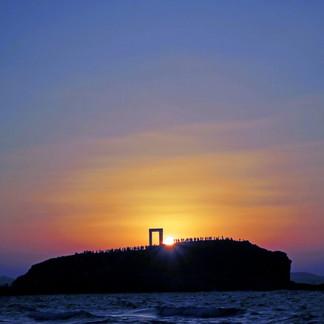 Portara at Sunset
