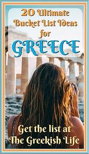 Greece Bucket List - The Greekish Life.J
